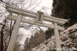 聖地、五龍山の新宮神社に祭られた五体の龍(吉賀町)。