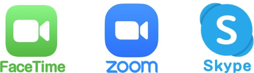 FaceTime・ZOOM・Skype